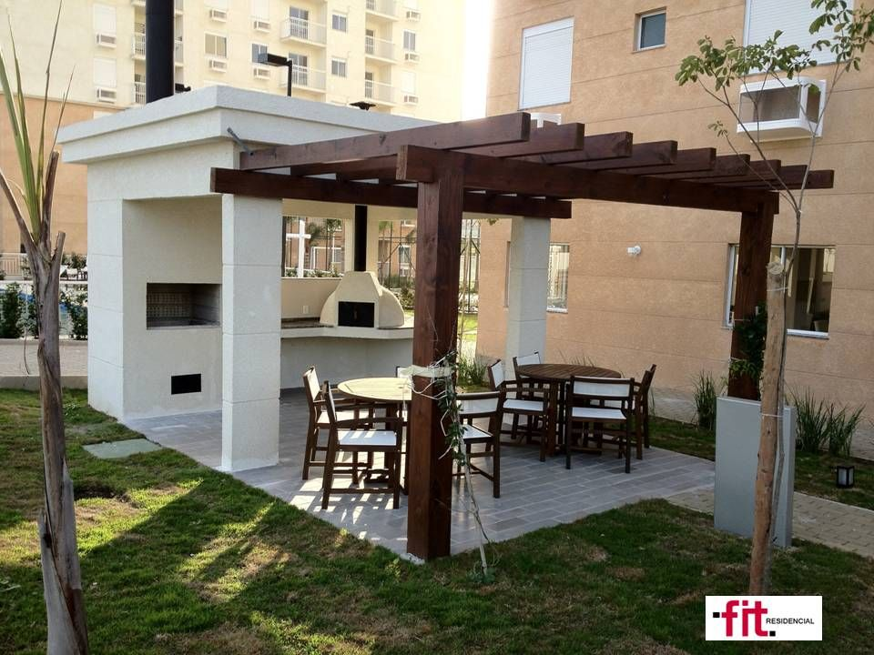 Terraza quincho or churrasqueira parrillas for Asador en patio pequeno