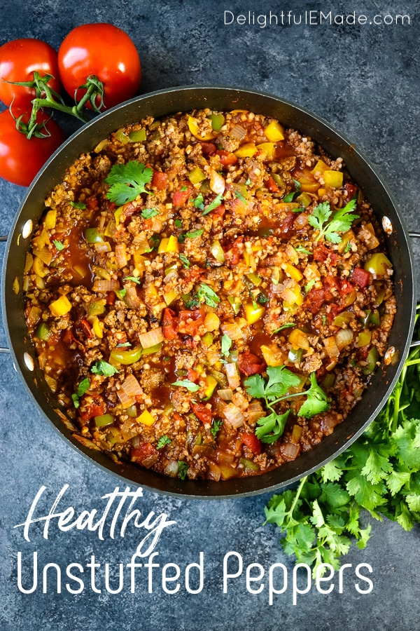 Healthy Unstuffed Peppers