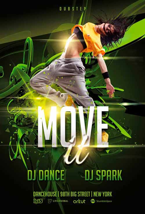 free move it dance flyer template flyer examples pinterest