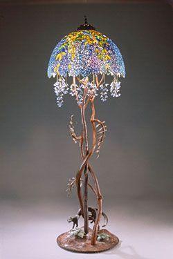 Lighting Portfolio Wisteria Floor Lamp Tiffany Style Lamp Art Deco Lamps Lamp