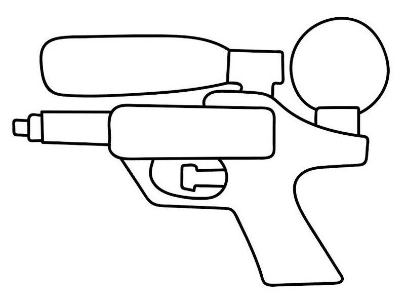 Pin On Water Gun Coloring Pages For Kids
