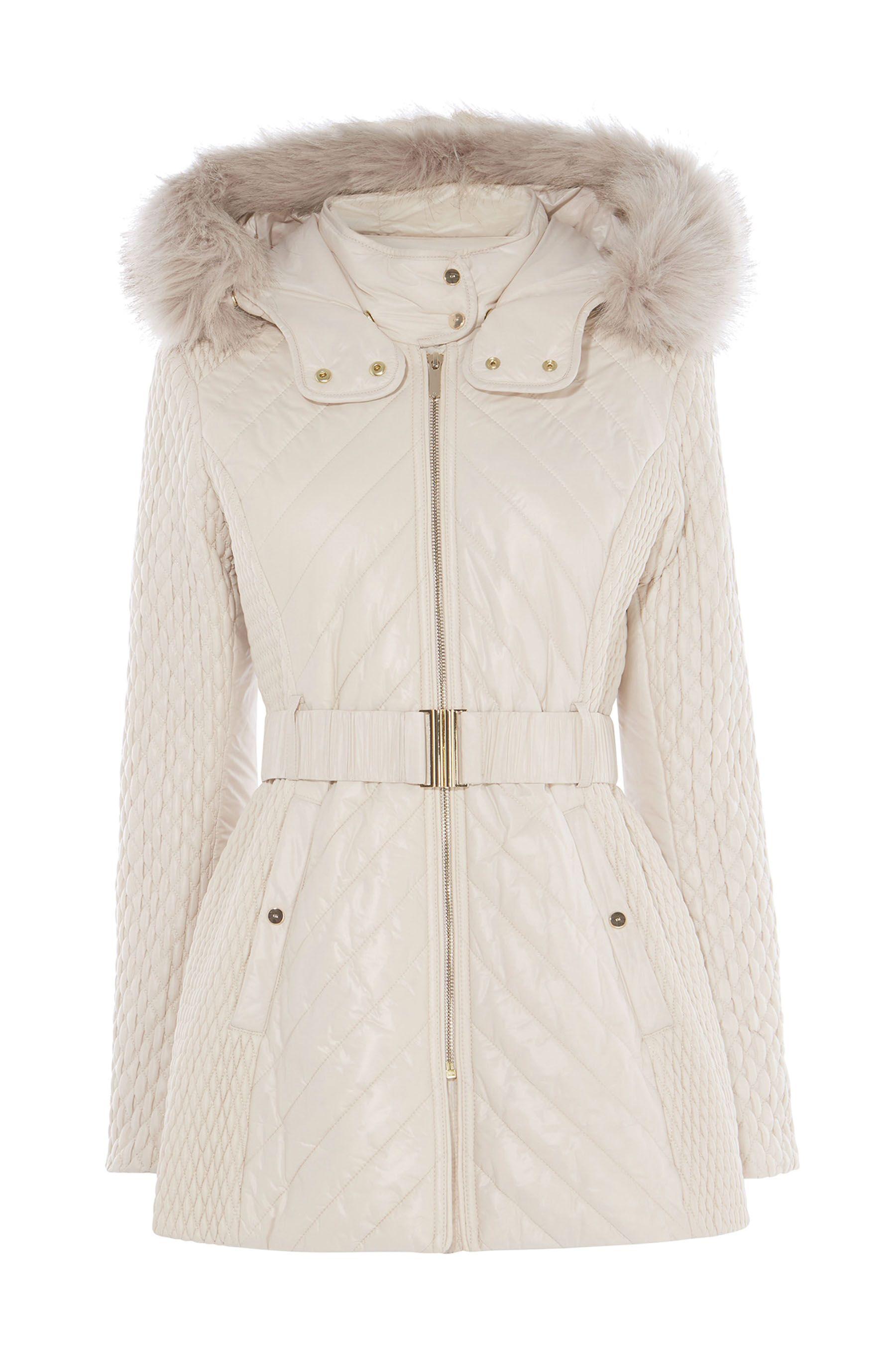b36d621a3d0 Womens Karen Millen White Lightweight Padded Coat - White | Products ...