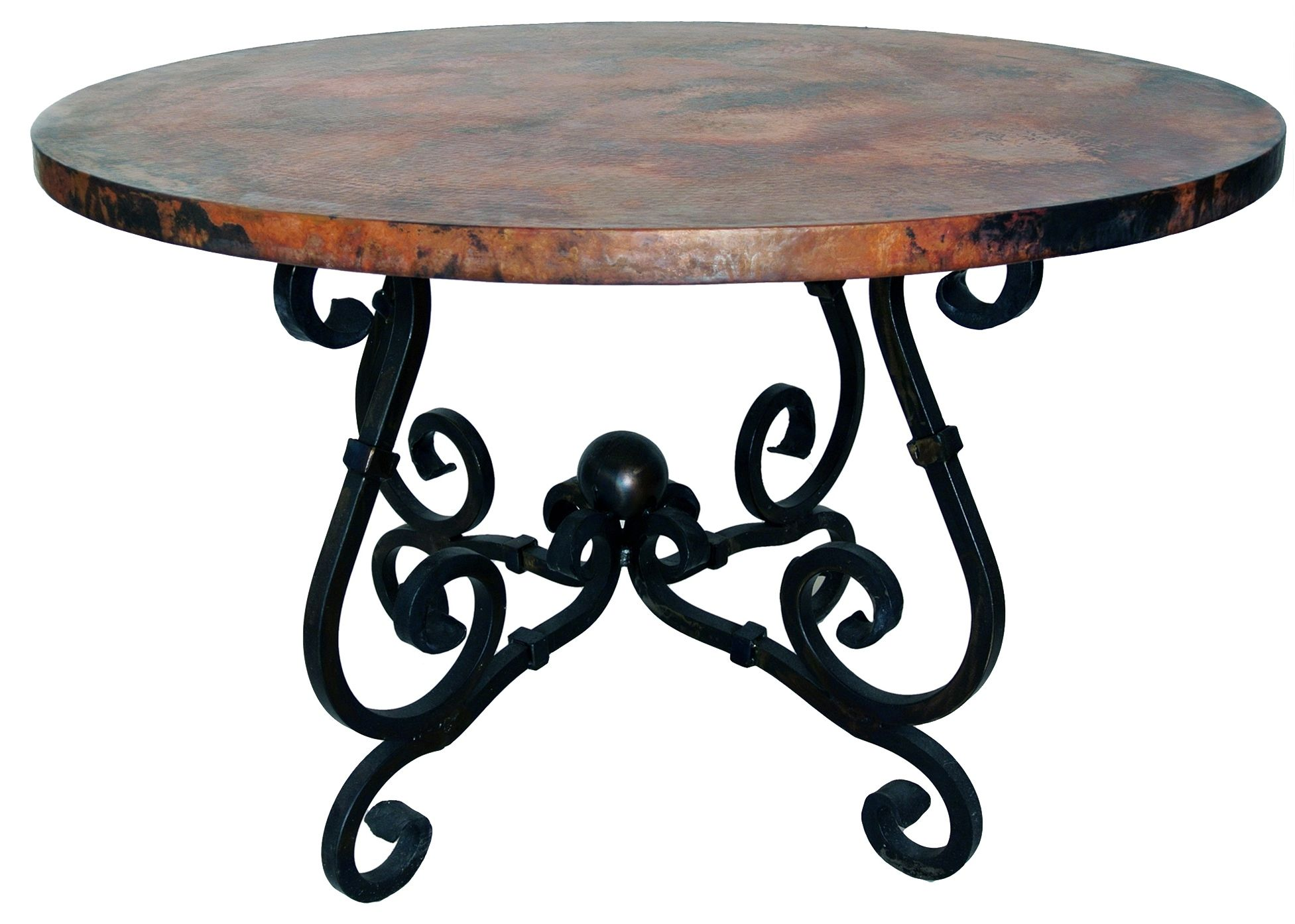 Wrought Iron Table Bases For Glass Tops Wrought Iron Dining Table Dining Table Copper Iron Table