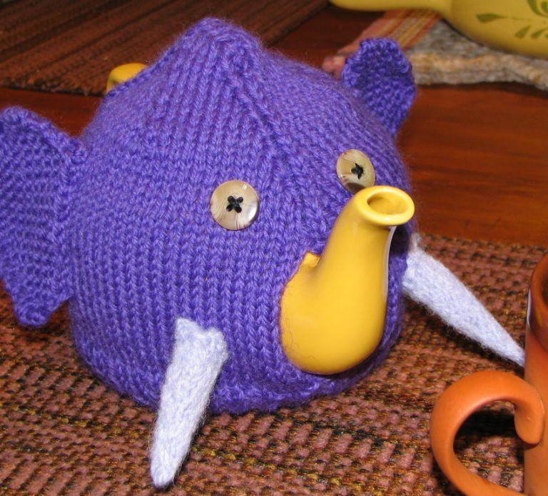 Free Knitting Pattern For Elephant Teapot Cozy Knitting