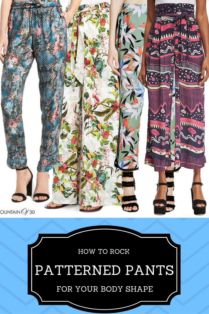 Wear you Trendswould patterened trousers