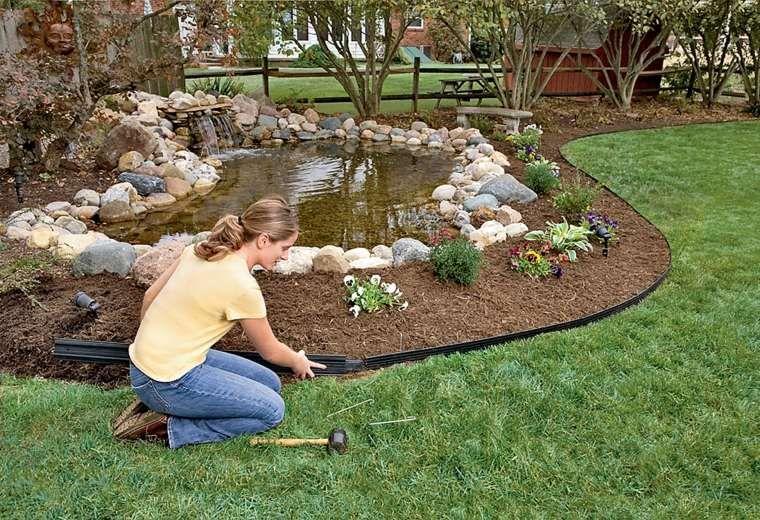 idée de bordure e jardin à installer | Bordure jardin ...