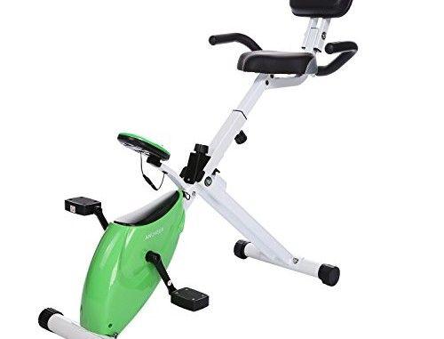 Folding Magnetic Stationary Exercise Bike Upright Recumbent