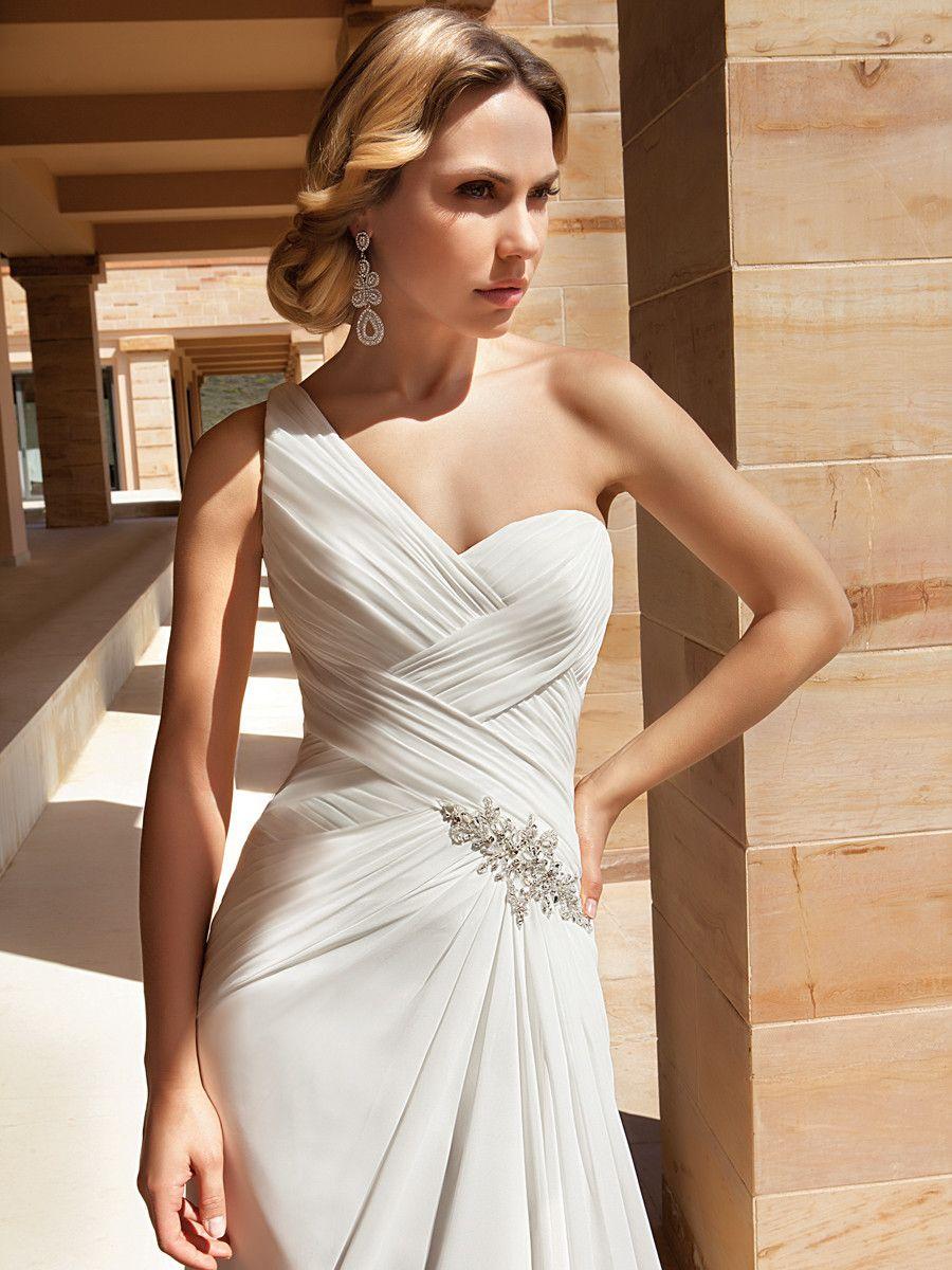 One Strap Wedding Dresses — (via Boho Chic Modern Modest Nautical/Preppy...