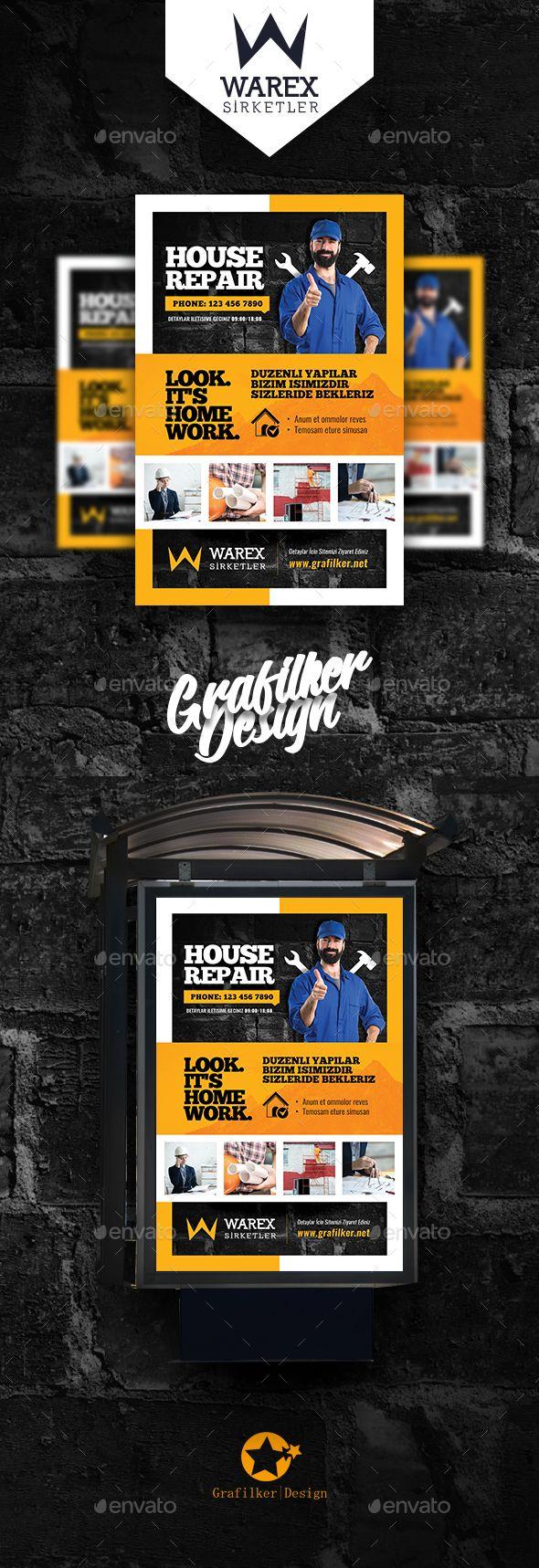 House Repair Poster Templates