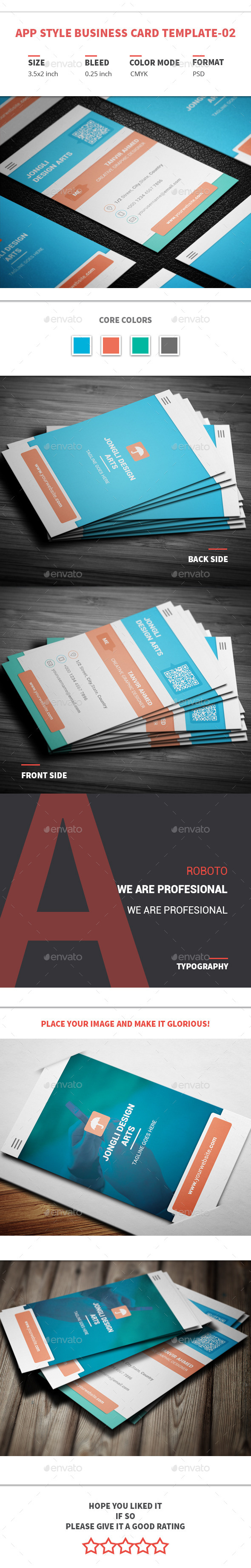 App style business card template 02 app style card templates and app style business card template 02 reheart Image collections