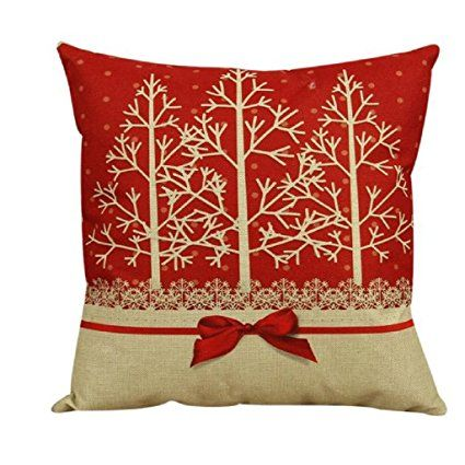 """Laimeng, Vintage Christmas Sofa Bed Home Decor Pillow Case Cushion Cover (4545cm/17""""17"""", red)"""