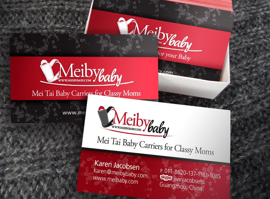 Meiby Baby Business Cards | Blogger Business Cards | Pinterest ...