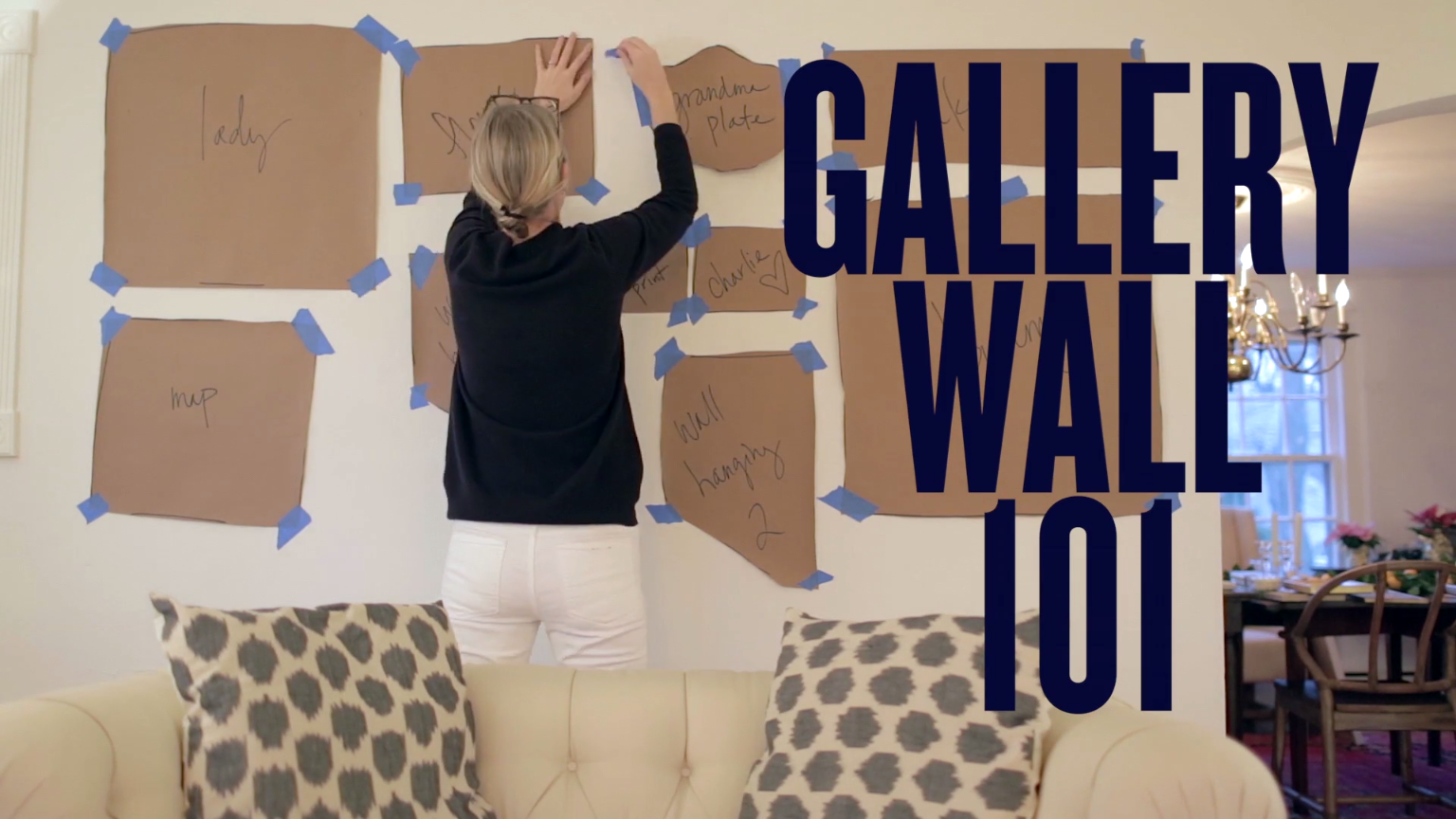 Interieur Inrichting Galerie : The trick to hanging a gallery wall huis inrichting muur en