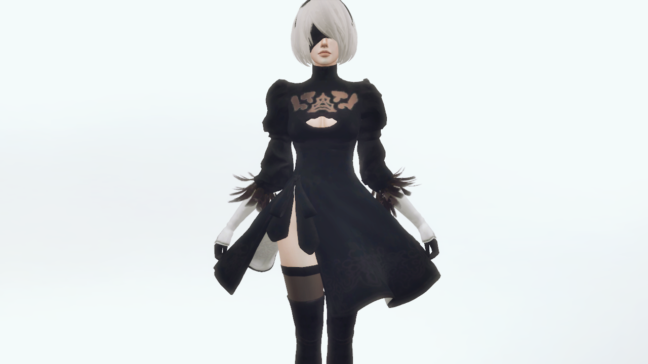 Character - 2B from NieR: Automata Mesh by me 1 color For