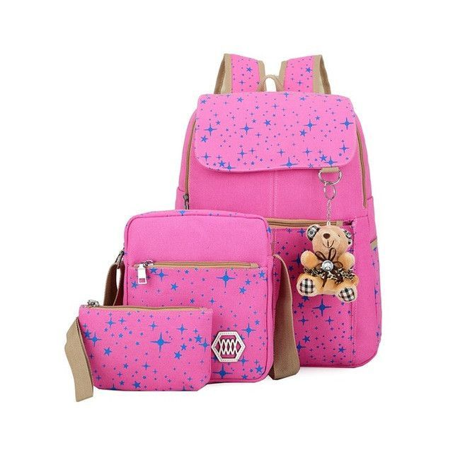 f60330b2b0bb 3pcs/set Backpack Women | Products | Girls rucksack, Girl backpacks ...