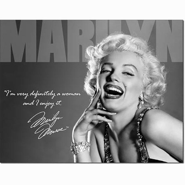 Marilyn Monroe Im A Woman Quote Metal Sign