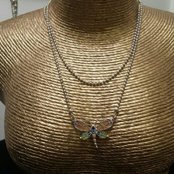 "GUESS necklace Dragonfly 18""  Guess Jewelry Necklaces"