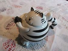 Black and White Striped Cat and Mouse Teapot - Pier One Imports