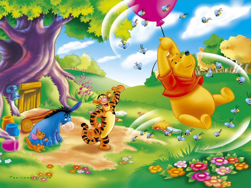 Colorful cartoon kids background wallpaper hd 16 high resolution winnie the pooh wallpaperhd wallpaper and background photos of winnie the pooh wallpaper for fans of winnie the pooh images voltagebd Gallery