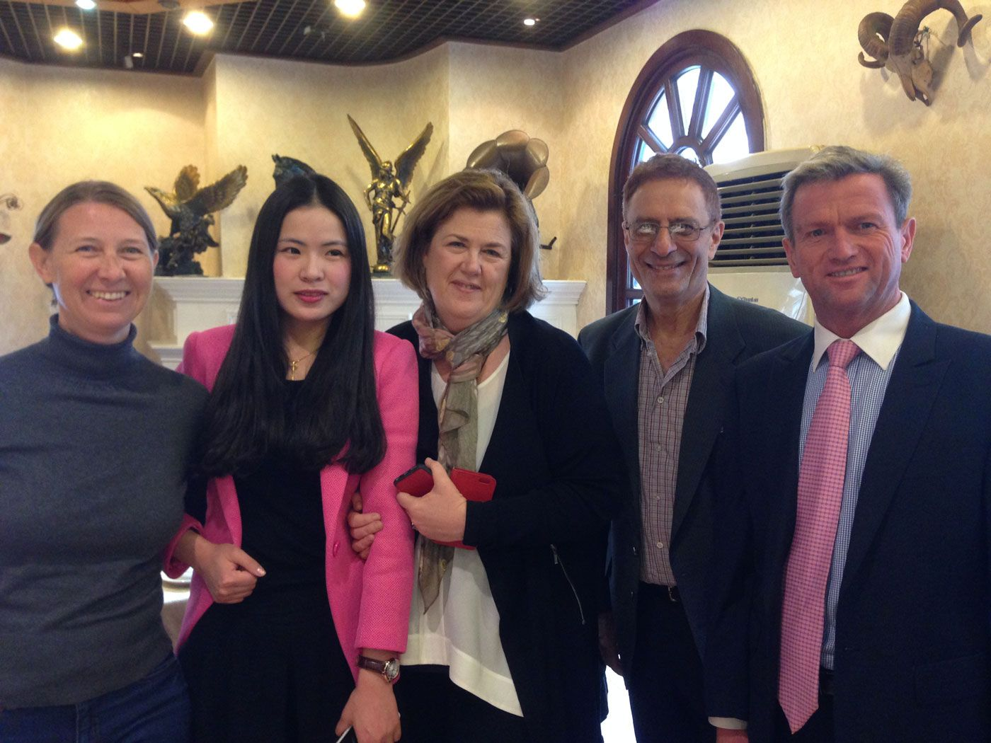 Five Aussie publishers at Time Publishing's Shanghai office.