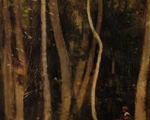 Figures in a Forest - Camille Corot