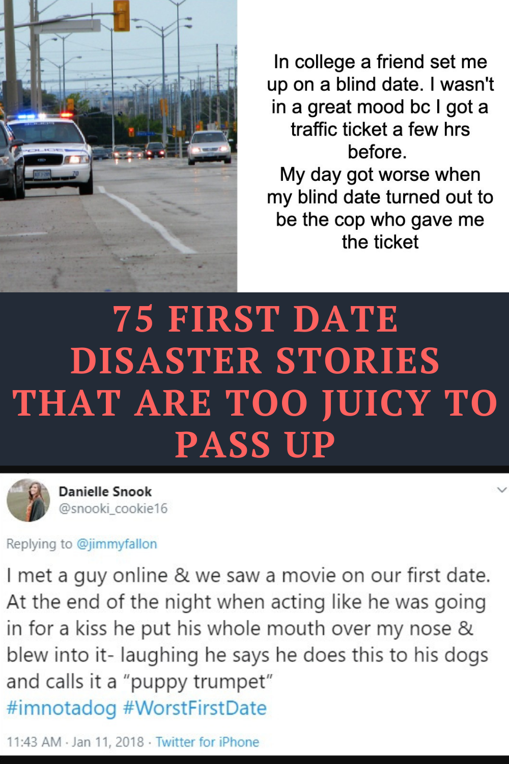Funny dating disaster stories