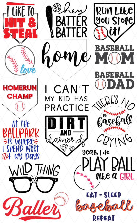 Baseball Cut file Baseball Fan Svg Love Baseball svg Baseball file Baseball lover svg DXF Png files Silhouette And Cricut Cut File