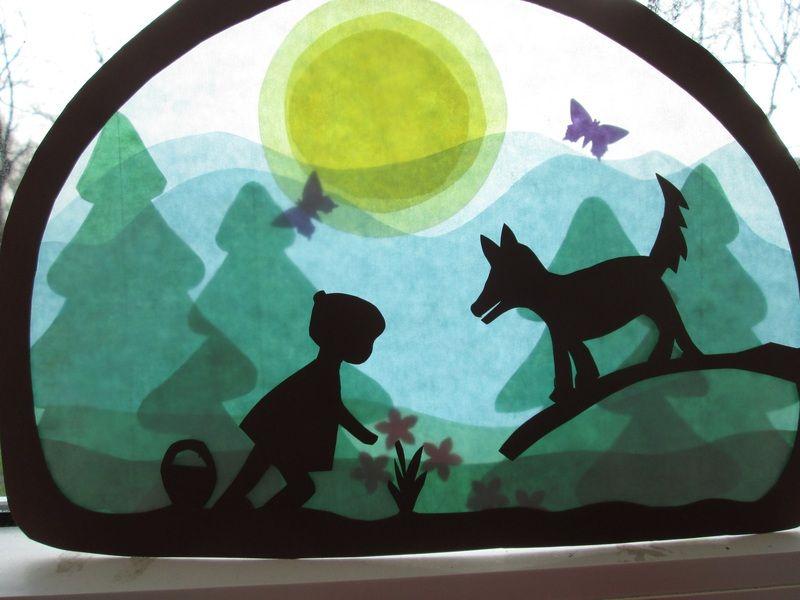 Transparentbild,Rotkäppchen,+Waldorf+von+Puppenprofi+auf+DaWanda.com #herbstdekofensterkinder