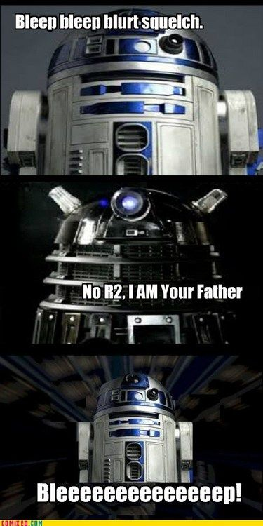 R2-D2 and a Dalek lol love it