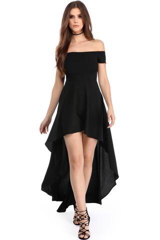 Robe noire de soiree courte