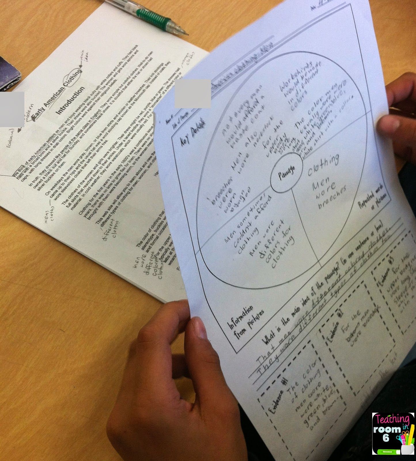 Using A Graphic Organizer To Find The Main Idea Of