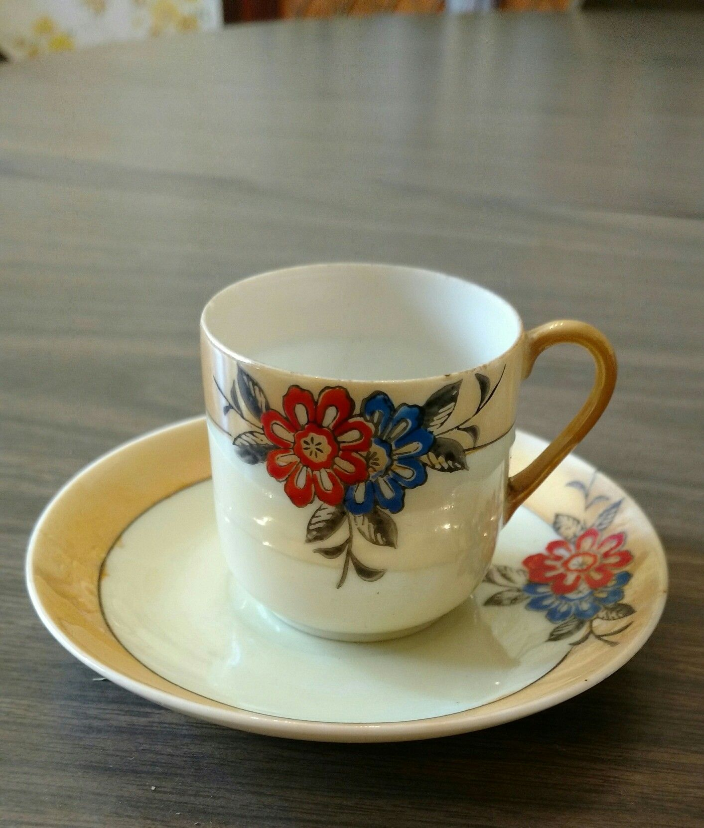 Demitasse cup, KS, made in Occupied Japan  I know it's mid
