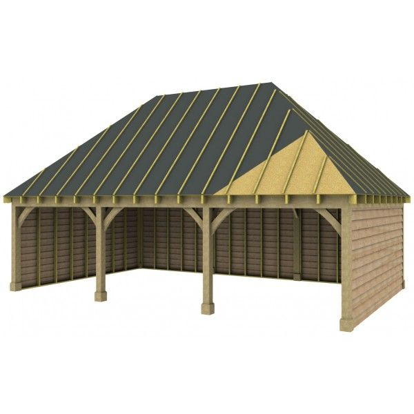 Best 3 Bay Garage With High Pitch Hipped Roof Rustic Brick 400 x 300