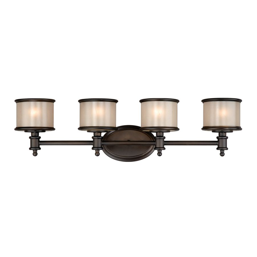 Shop Cascadia Lighting 4-Light Carlisle Noble Bronze Bathroom