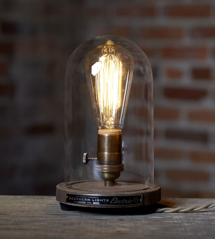 Bell jar table lamp bell jars inline and industrial style lamps bell jar table lamp geotapseo Choice Image