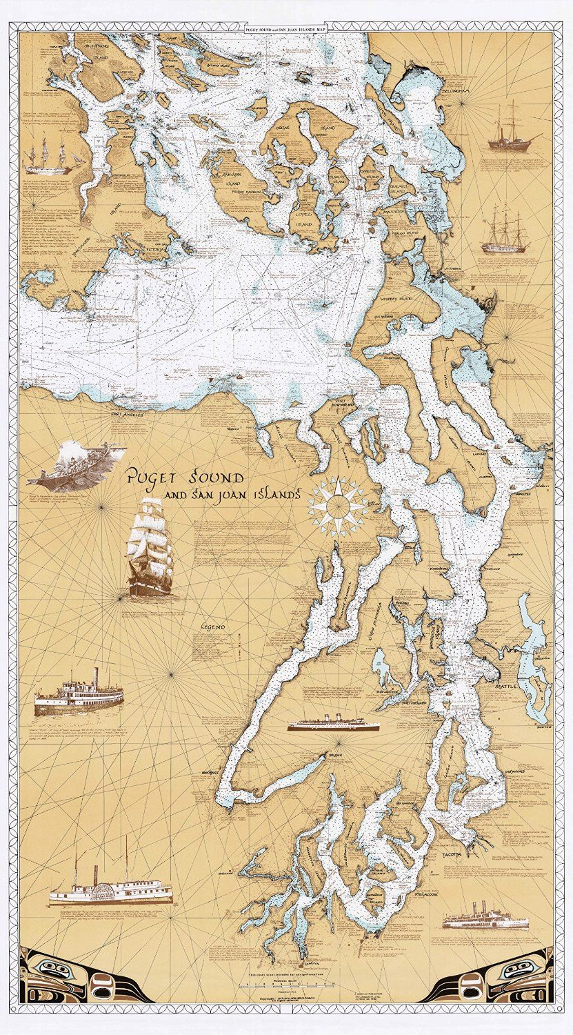 Amazon Uk Camano Island Amazon Sobay Map Puget Sound San Juan Islands Chart
