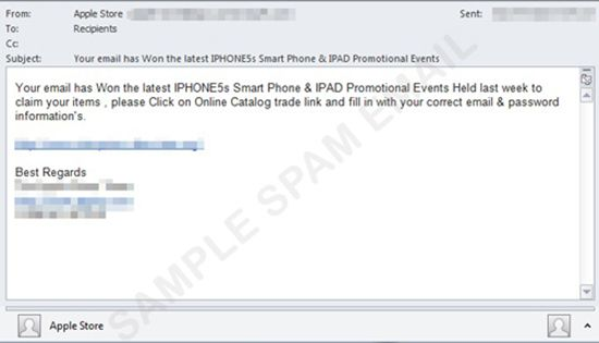 Be Aware of the iPhone 5S Phishing.