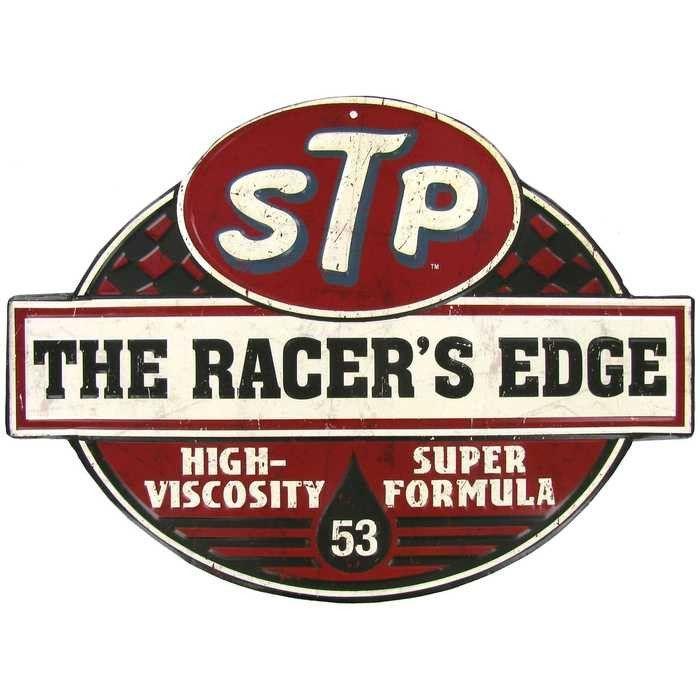 VINTAGE SIGN DESIGNS STP The Racers Edge premium quality PVC garage//workshop banner