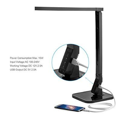 coocheer 15w eye care dimmable led desk lamp touch sensitive control rh pinterest com