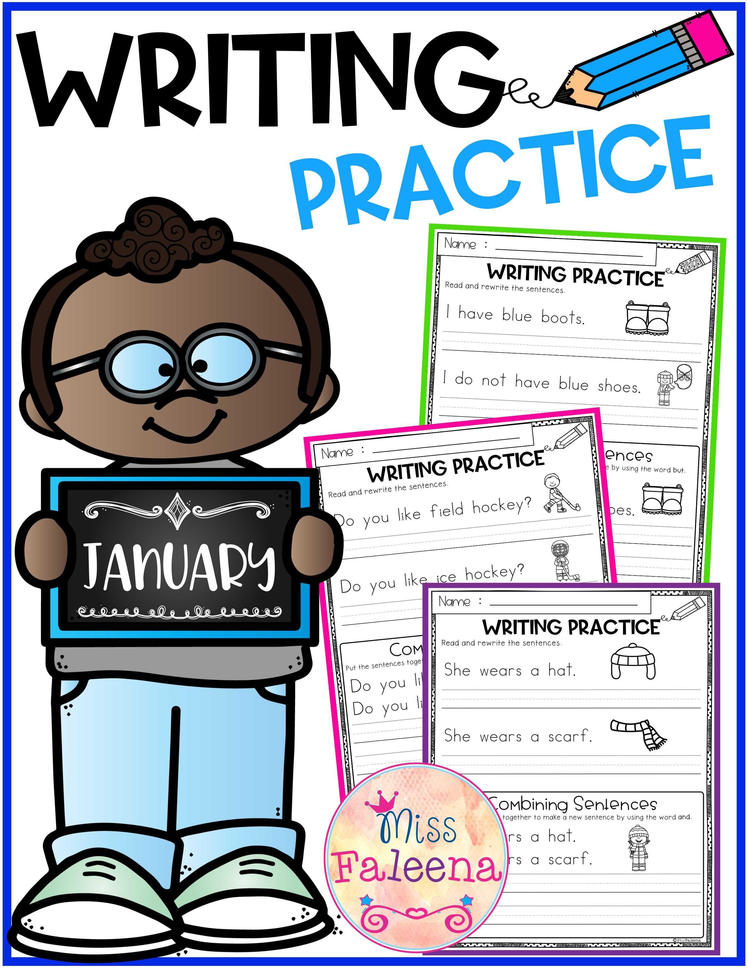 January Writing Practice Combining Sentences