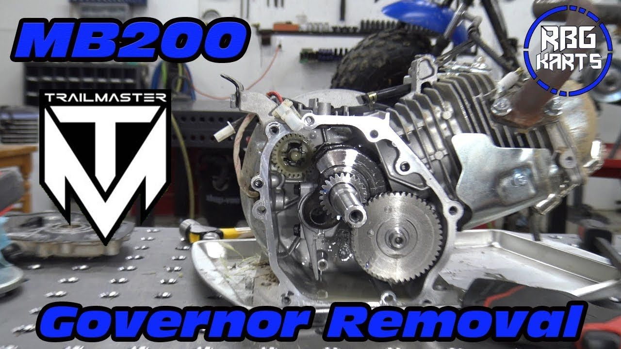 Trailmaster MB200 Governor Removal & Test | Mini Bikes | Mini bike