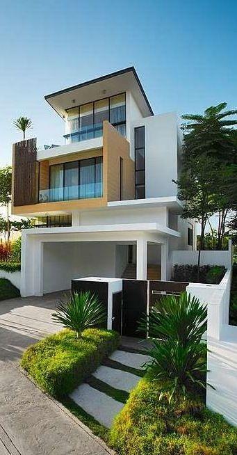 27 fachadas de casas modernas arquitetura pinterest maison moderne extraordinaire et ville. Black Bedroom Furniture Sets. Home Design Ideas