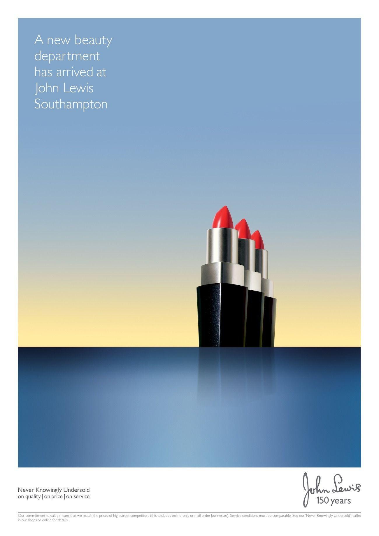 Anzeigenkampagne für das Kaufhaus John Lewis in der Hafenstadt Southhampton.