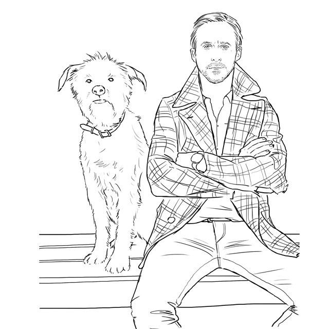 ryan gosling is in a coloring book - Hipster Coloring Book