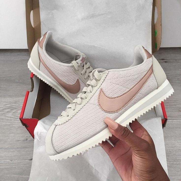 Nike cortez rose gold | Sneaker boots, Nike cortez leather