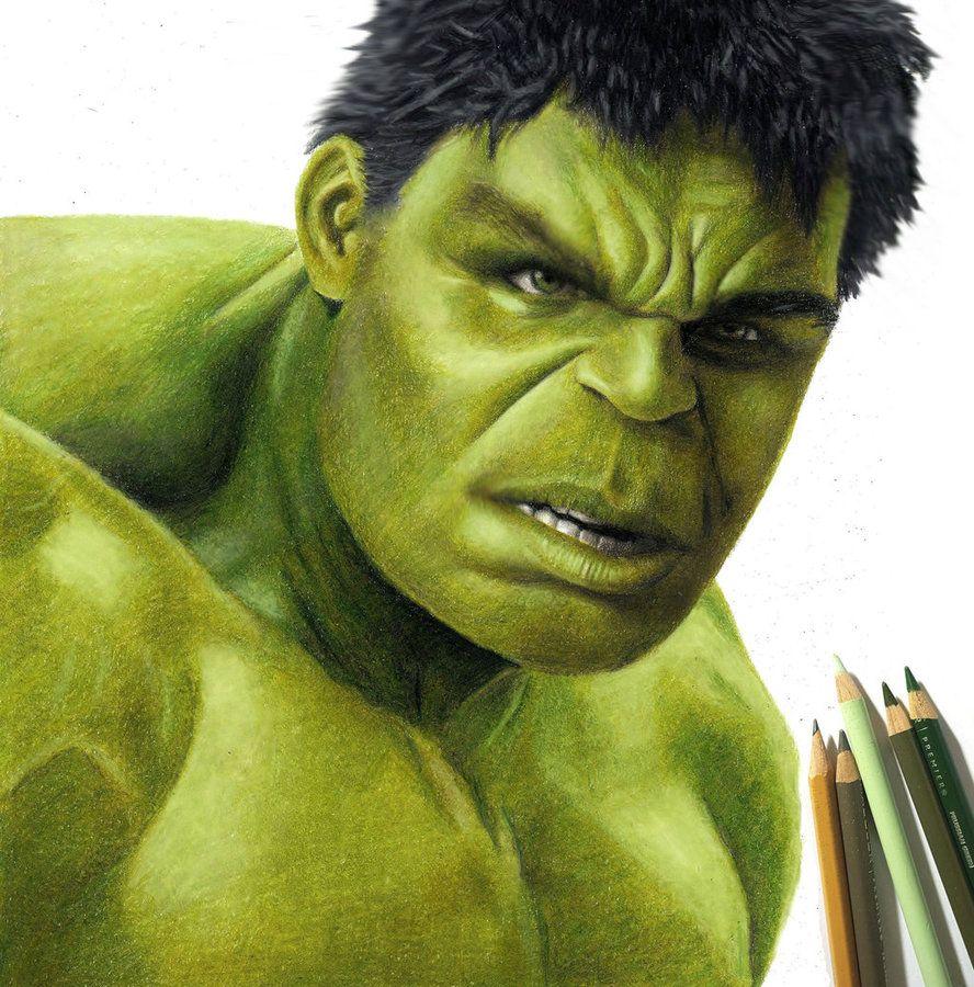 Colored Pencil Drawing of the Hulk by JasminaSusak   Lapices de ...