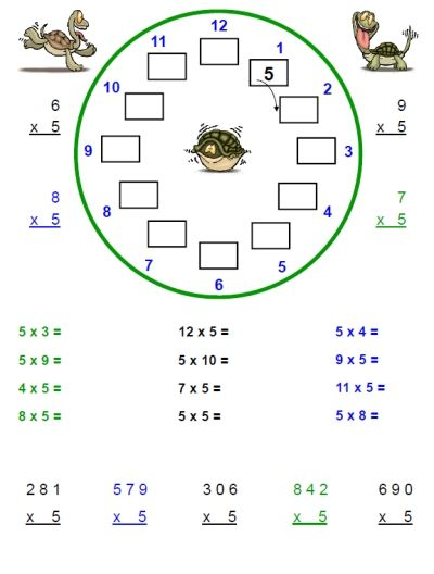 Multiplication Worksheets 2s Through 5s For Free From