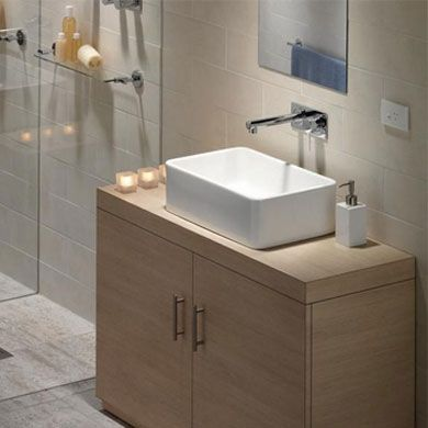 Caroma cube 500 above counter vanity basin wash basins for Bathroom wash basin designs india