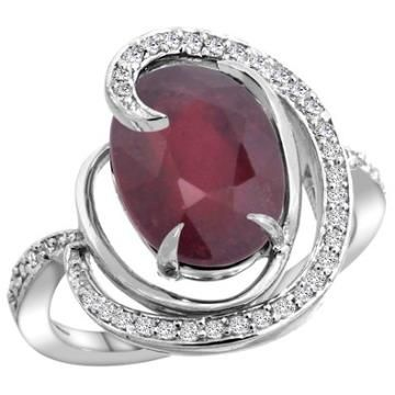https://ariani-shop.com/14k-white-gold-natural-enhanced-ruby-ring-oval-12x10mm-diamond-accents-sizes-5--10 14k White Gold Natural Enhanced Ruby Ring Oval 12x10mm Diamond Accents, sizes 5 - 10