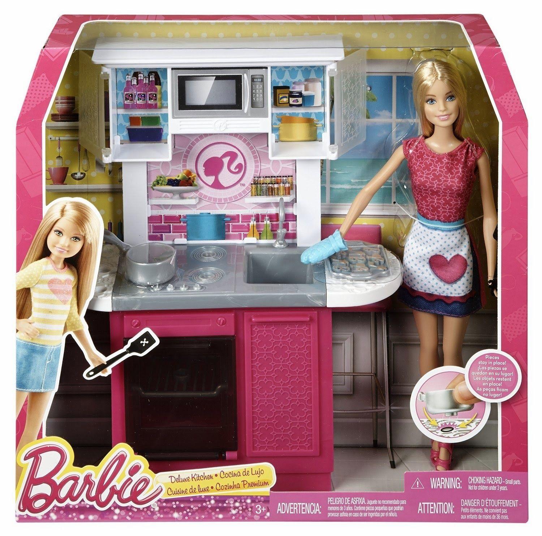 Kitchen Set Of Barbie: Barbie Deluxe Bedroom 2015: